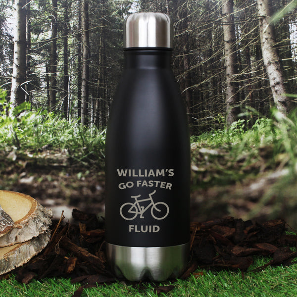 Personalised Bicycle Black Travel Bottle from Sassy Bloom Gifts - alternative view