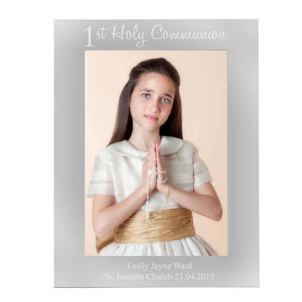 Personalised First Holy Communion 5x7 Portrait Photo Frame white background
