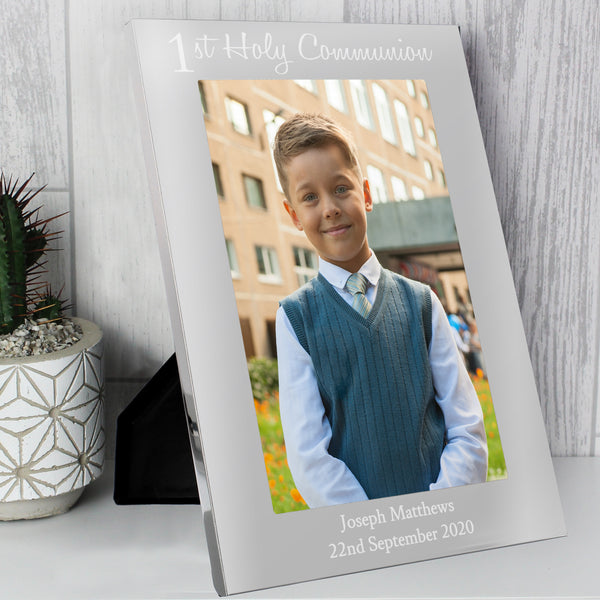 Personalised First Holy Communion 5x7 Portrait Photo Frame lifestyle image