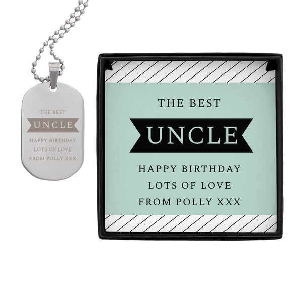 Personalised Box With Dog Tag white background