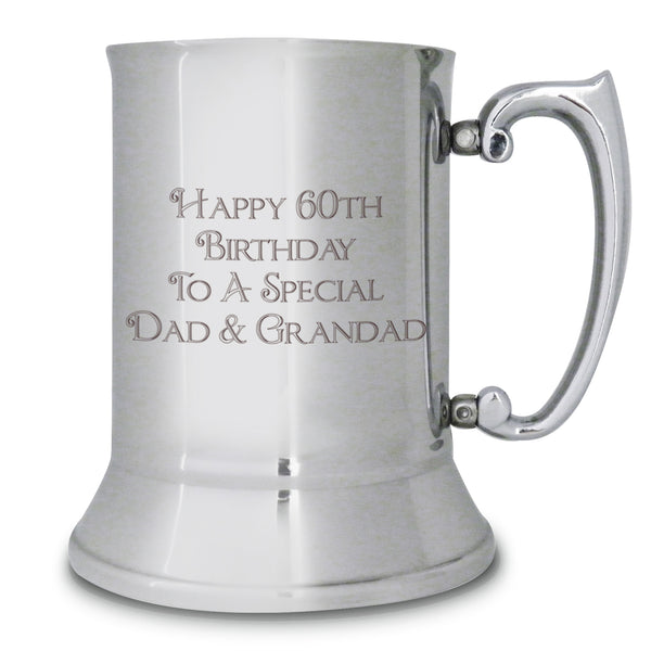 Personalised Bold Message Stainless Steel Tankard white background