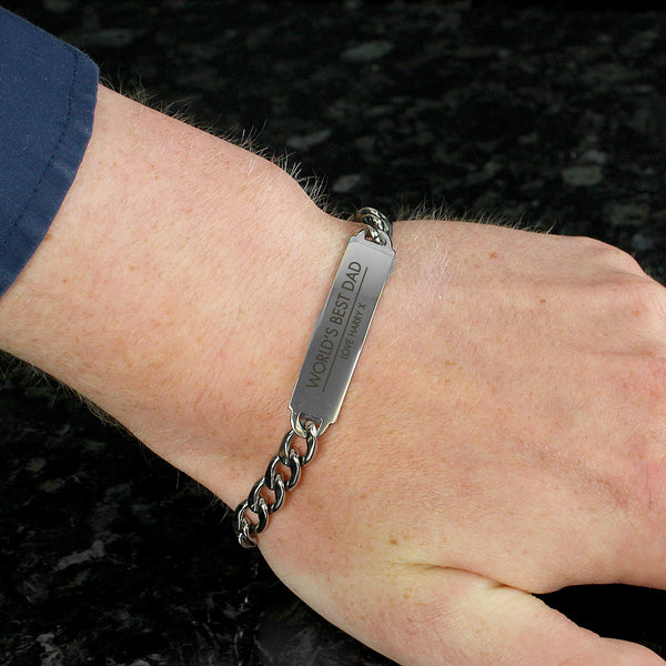 Personalised Classic Stainless Steel Unisex Bracelet with personalised name