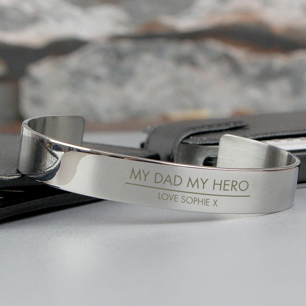 Personalised Classic Stainless Steel Bangle lifestyle image