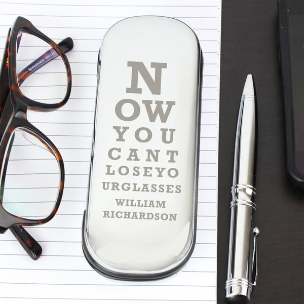 Personalised Eye Exam Glasses Case with personalised name
