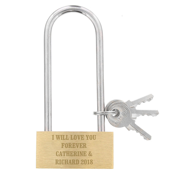 Personalised Any Message Padlock white background