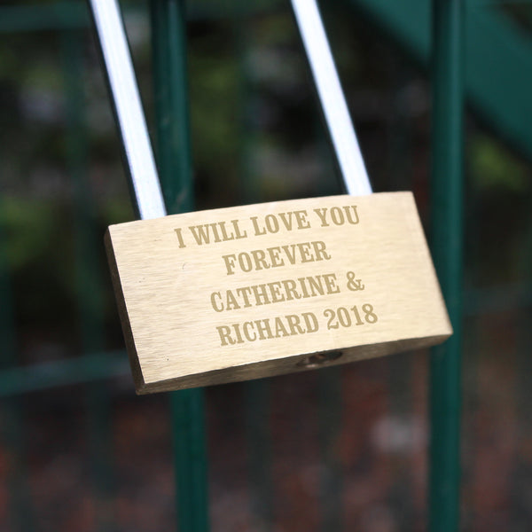 Personalised Any Message Padlock from Sassy Bloom Gifts - alternative view