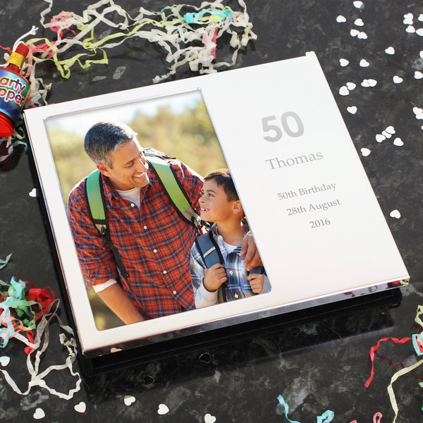 Personalised Big Numbers Frame Album 6x4 with personalised name