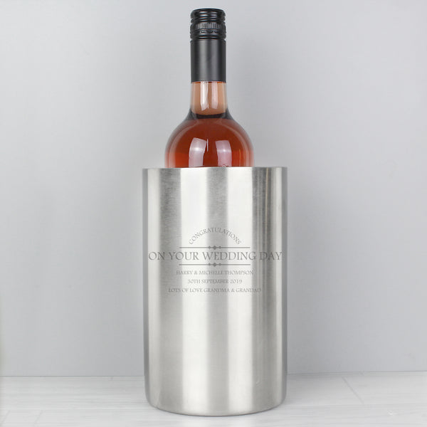 Personalised Diamond Wine Cooler from Sassy Bloom Gifts - alternative view