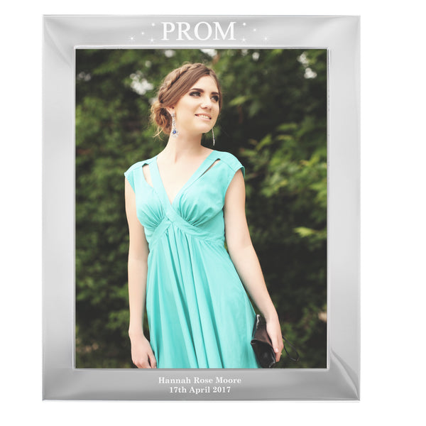 Personalised Prom Night Silver 10x8 Photo Frame white background
