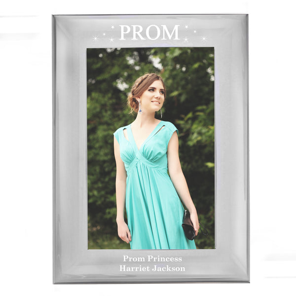 Personalised Prom Night Silver 6x4 Photo Frame white background
