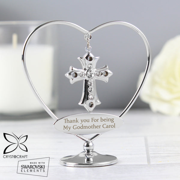 Personalised Crystocraft Cross Ornament lifestyle image
