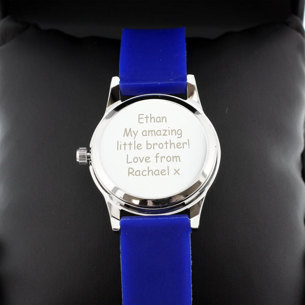 Personalised Kids Blue Time Teacher Watch with Presentation Box from Sassy Bloom Gifts - alternative view