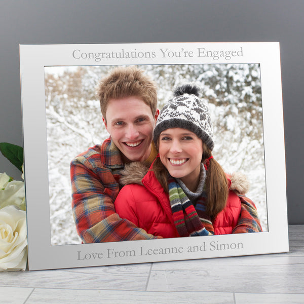 Personalised 10x8 Silver Photo Frame lifestyle image