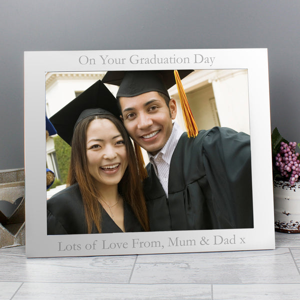 Personalised 10x8 Silver Photo Frame with personalised name