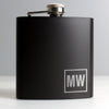Personalised Initials Black Hip Flask