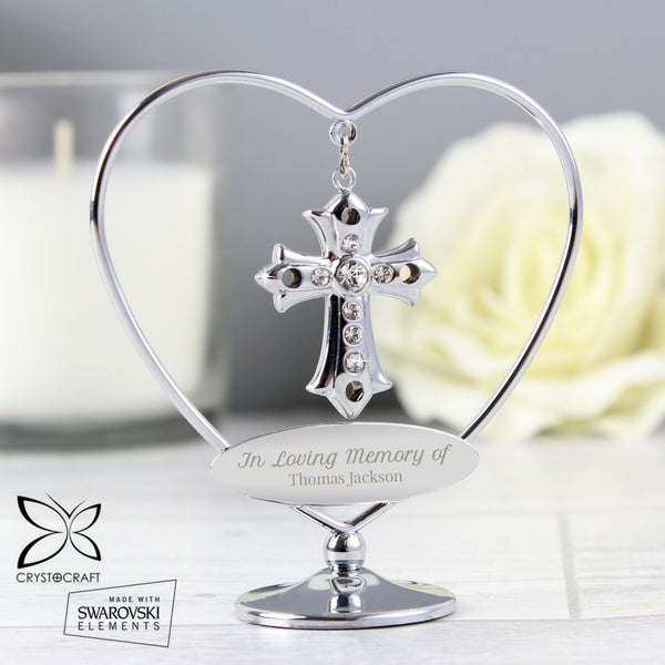 Personalised In Loving Memory Crystocraft Cross from Sassy Bloom Gifts - alternative view