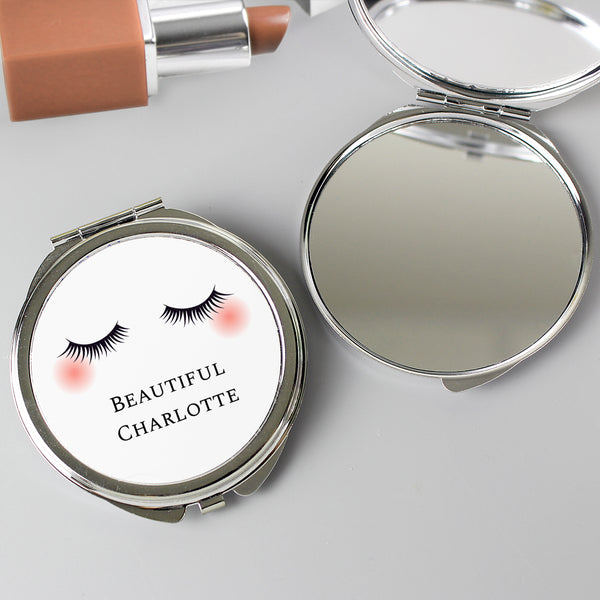 Personalised Eyelashes Compact Mirror from Sassy Bloom Gifts - alternative view