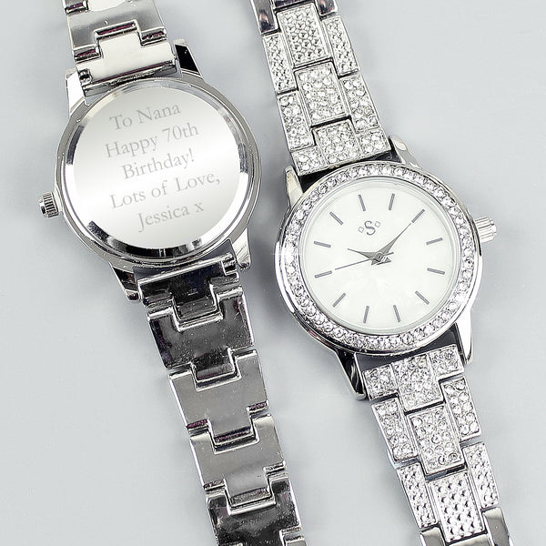 Personalised Diamante Ladies Watch lifestyle image