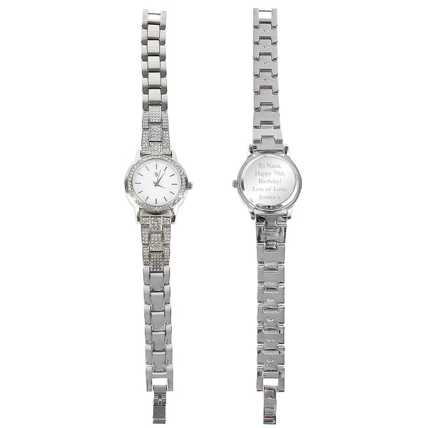 Personalised Diamante Ladies Watch with personalised name