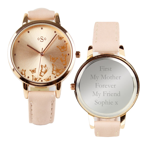 Personalised Rose Gold Ladies Watch white background