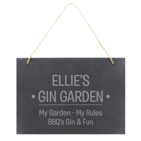 Personalised Large Hanging Slate Sign white background
