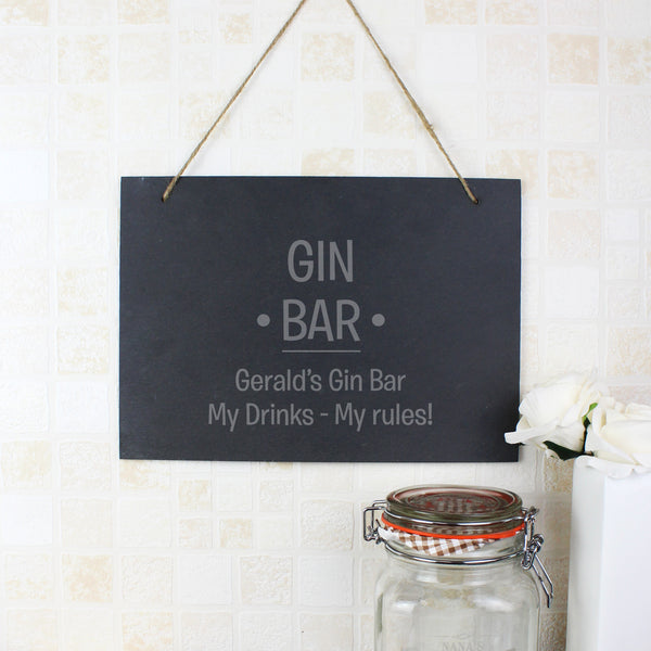 Personalised Large Hanging Slate Sign lifestyle image