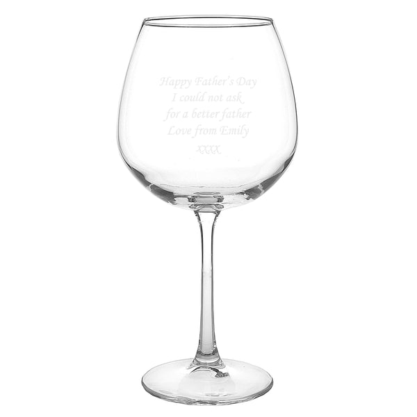 Personalised Bottle of Wine Glass white background