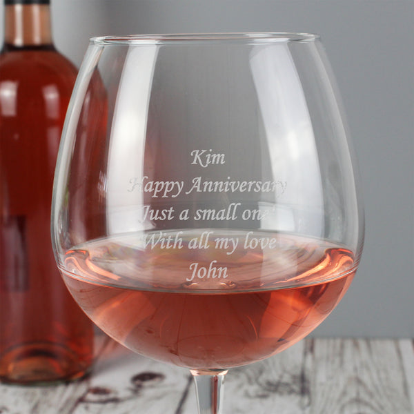 Personalised Bottle of Wine Glass lifestyle image