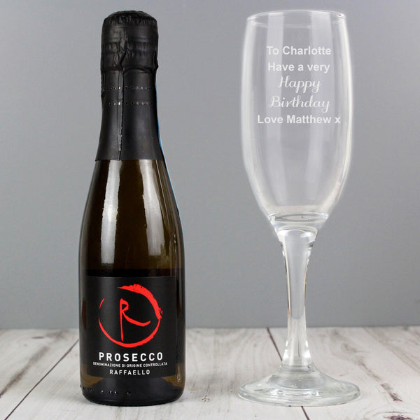 Personalised Prosecco Flute & Mini Prosecco Set from Sassy Bloom Gifts - alternative view