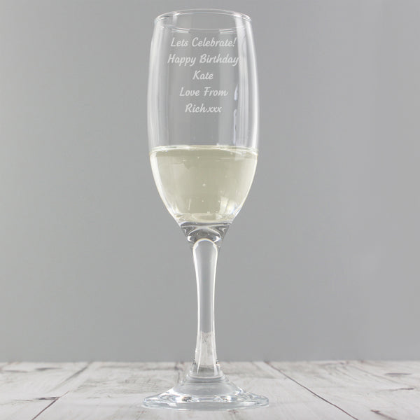Personalised Any Message Prosecco Flute lifestyle image
