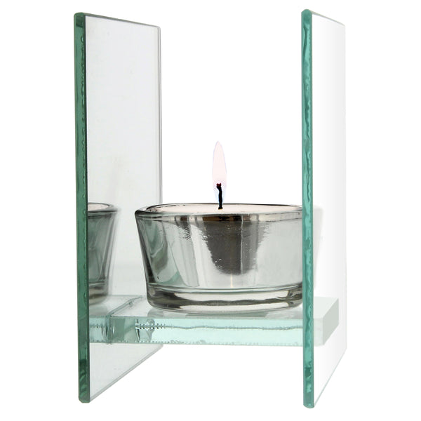 Personalised Sentiments Mirrored Glass Tea Light Candle Holder with personalised name