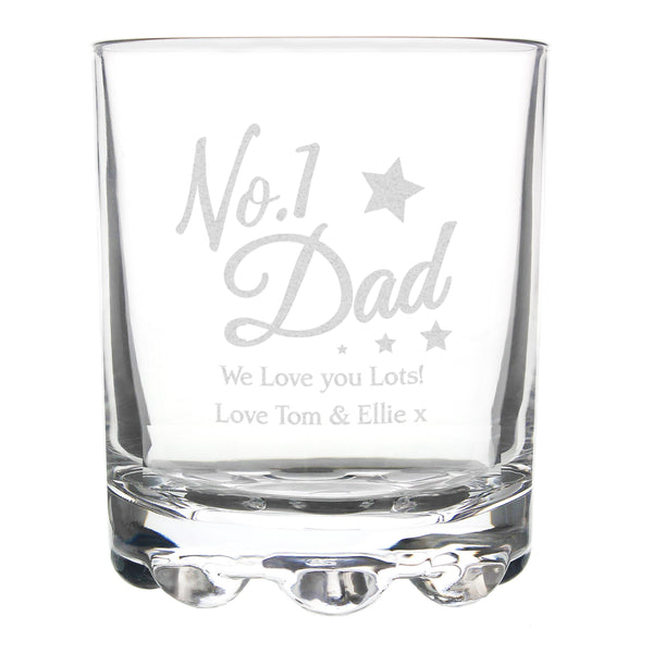 Personalised No.1 Dad Tumbler white background