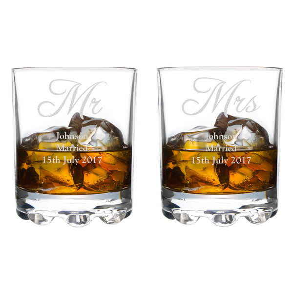 Personalised Mr & Mrs Pair of Tumblers lifestyle image