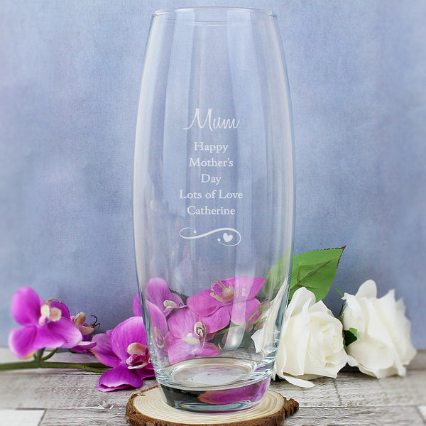 Personalised Swirls & Hearts Bullet Vase from Sassy Bloom Gifts - alternative view