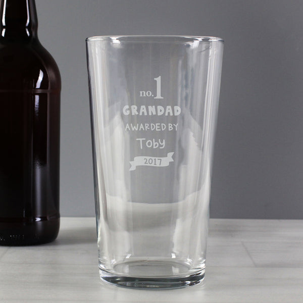 Personalised no.1 Awarded By Pint Glass from Sassy Bloom Gifts - alternative view