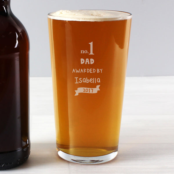 Personalised no.1 Awarded By Pint Glass lifestyle image