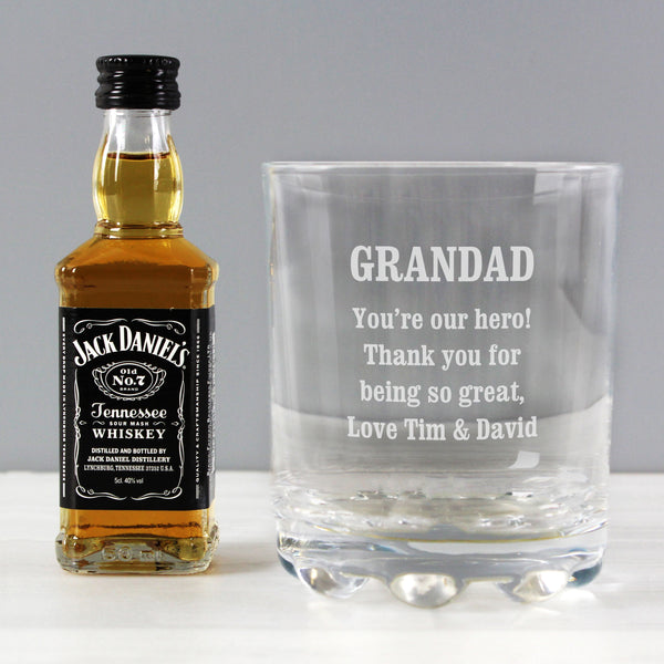 Personalised Tumbler and Whiskey Miniature Set lifestyle image