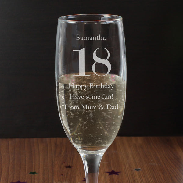 Personalised Birthday Big Age Flute lifestyle image