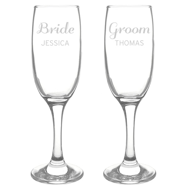 Personalised Classic Pair of Flutes white background