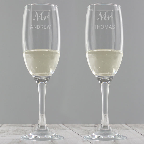 Personalised Classic Pair of Flutes from Sassy Bloom Gifts - alternative view