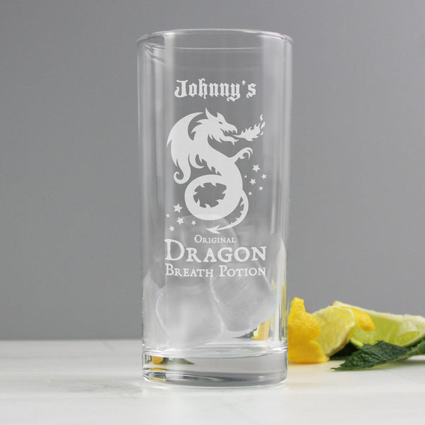 Personalised Dragon Breath Potion Hi Ball Glass from Sassy Bloom Gifts - alternative view