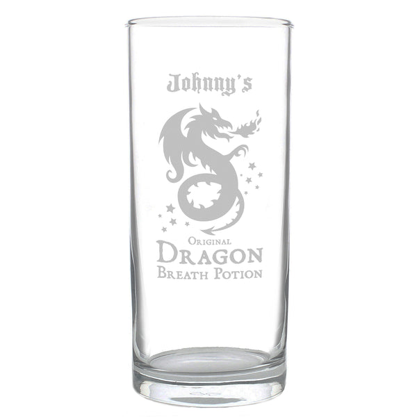 Personalised Dragon Breath Potion Hi Ball Glass lifestyle image