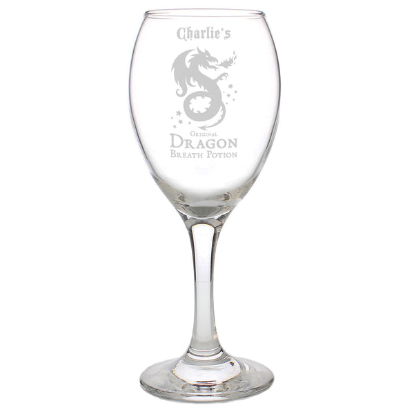 Personalised Dragon Breath Potion Wine Glass lifestyle image