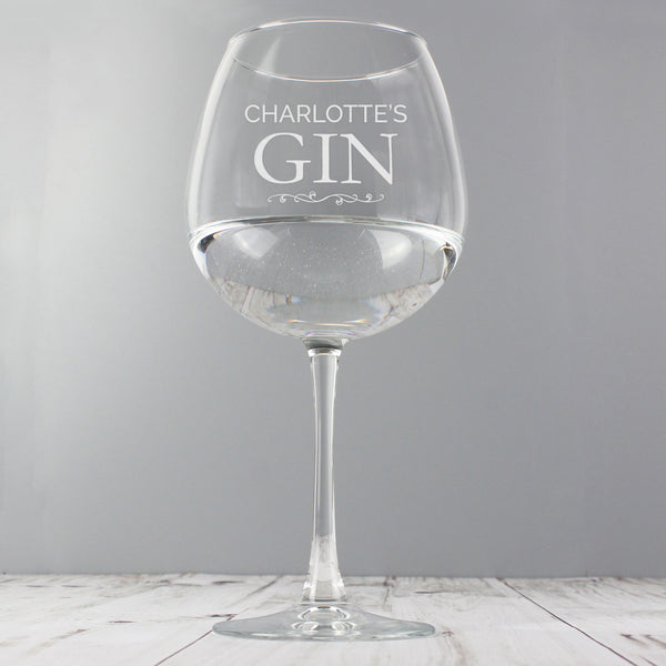 Personalised Gin Balloon Glass lifestyle image