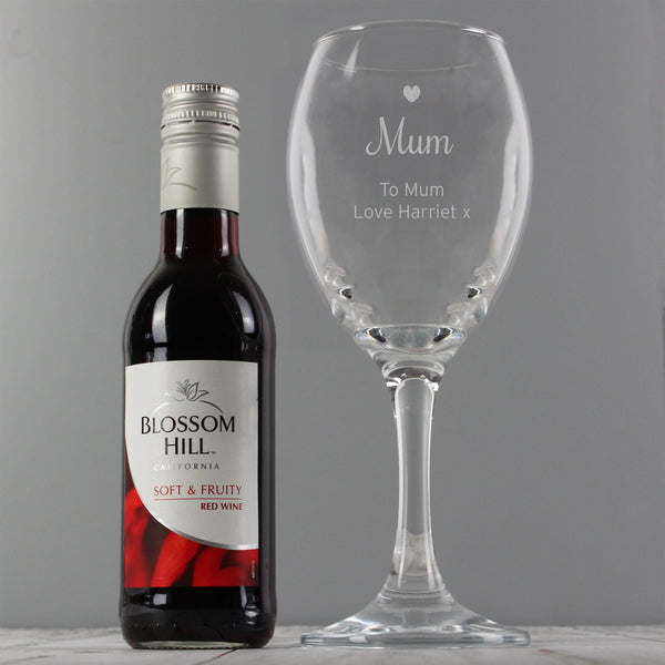 Personalised Red Wine & Heart Wine Glass Set lifestyle image