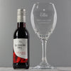 Personalised Red Wine & Heart Wine Glass Set