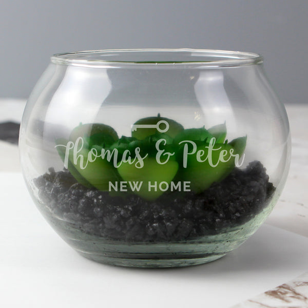 Personalised New Home Glass Terrarium from Sassy Bloom Gifts - alternative view