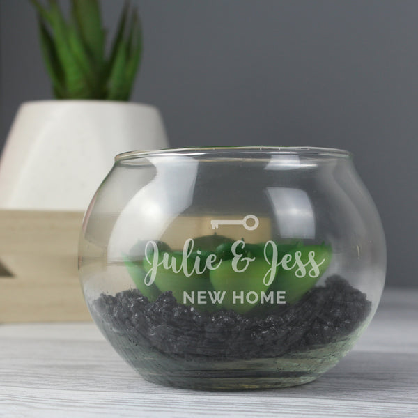 Personalised New Home Glass Terrarium lifestyle image