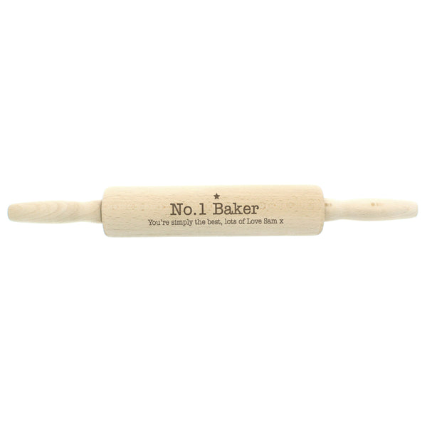 Personalised Baker Rolling Pin with personalised name