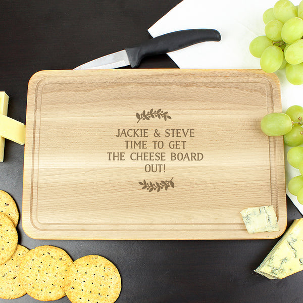 Personalised Wreath Chopping Board from Sassy Bloom Gifts - alternative view